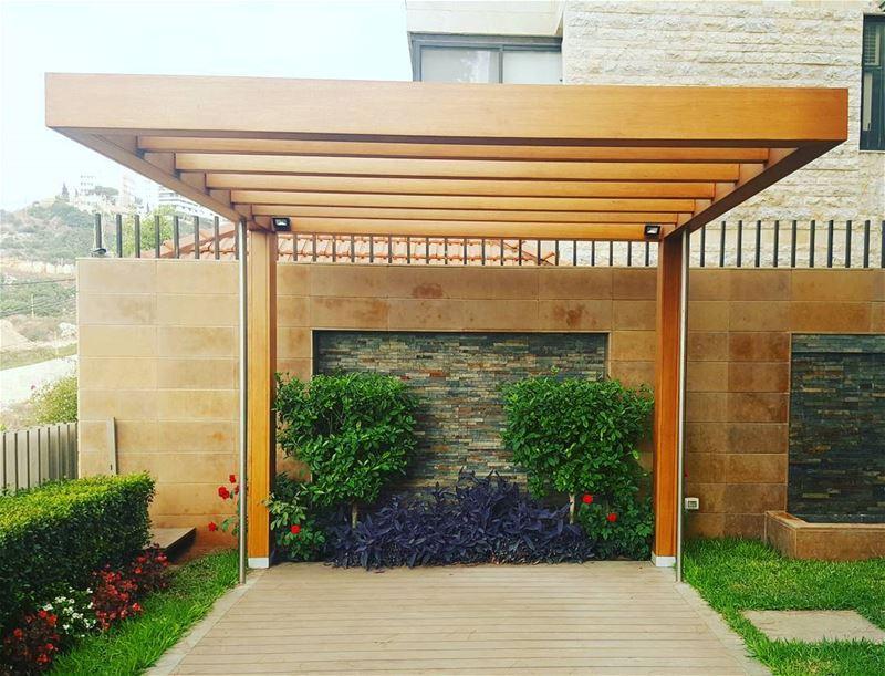 pergola cedar design architecture designer shade shadow lebanon ... (Bsalim, Mont-Liban, Lebanon)