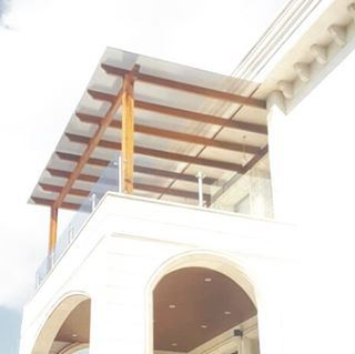 pergola wood iroko polycarbonate terrace balcony luxury design ... (Amyun)