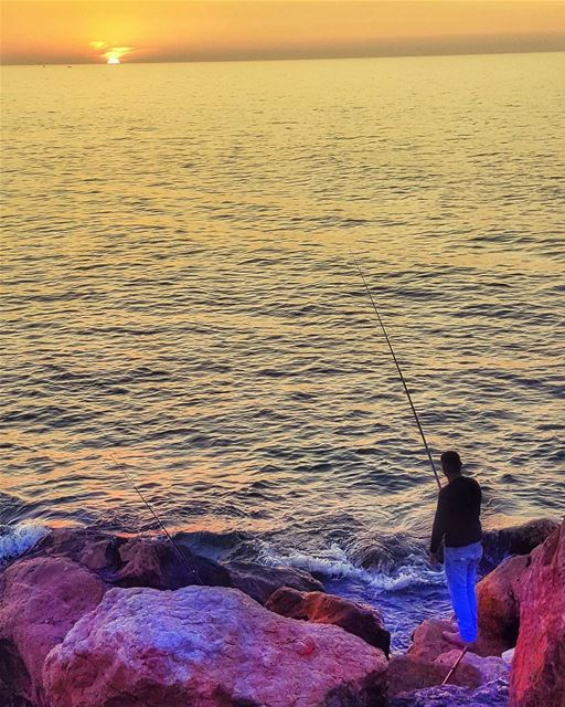 Give a man a fish and you feed him for a day; teach a man to fish and... (Dbayeh, Mont-Liban, Lebanon)