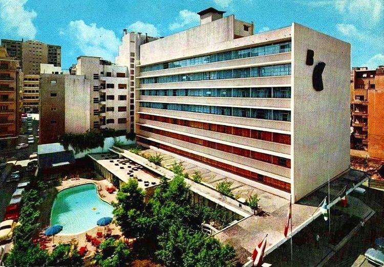Beirut Commodore Hotel Hamra Street 1969