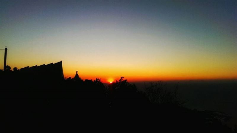 sunset from harissa our_lady_of_lebanon skylovers sun sky ... (Our Lady of Lebanon)