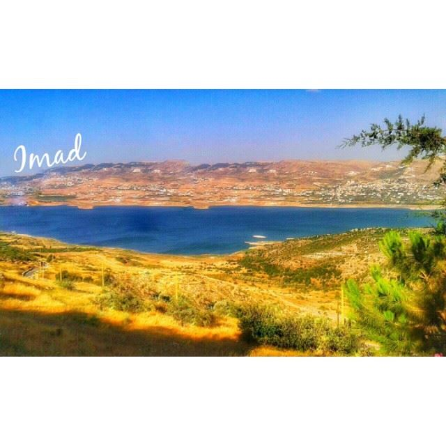 A drop of water is worth more than a sack of gold to a thirsty man... (Karaoun Lake)