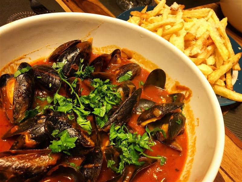 How about some moules en marinara et frites for lunch?. moulesetfrites ...