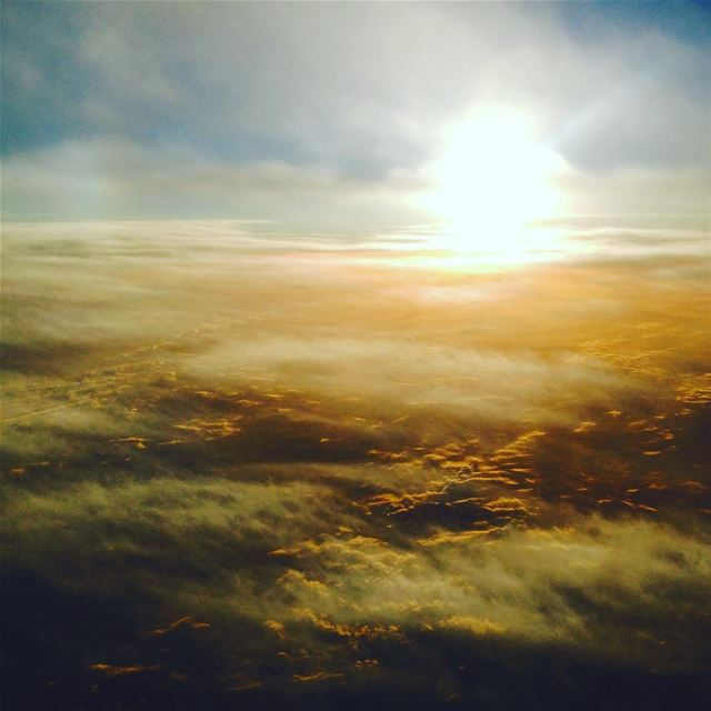 Lost in a sea of clouds where nothing really matters. sky sun sunset ... (Beirut, Lebanon)