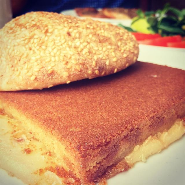 A Lebanese breakfast for kings.. lebanon breakfast lebanese knefe ... (Al Baba Sweets (zalka))