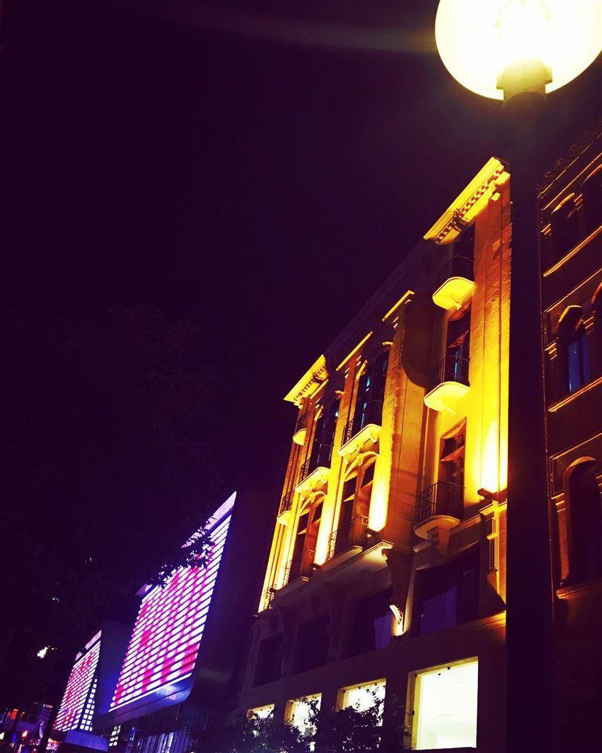 lebanon beirut beirutsouks cinemacity night lamp oldbuilding ... (Beirut Souks)