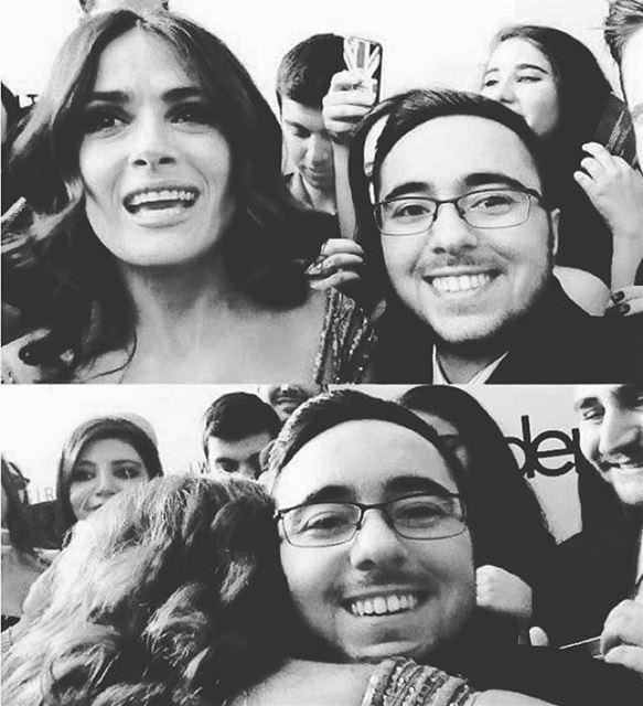 That time when I hugged @salmahayek ⭐️ actually she hugged me! salmahayek... (Beirut Souks Cinemacity)