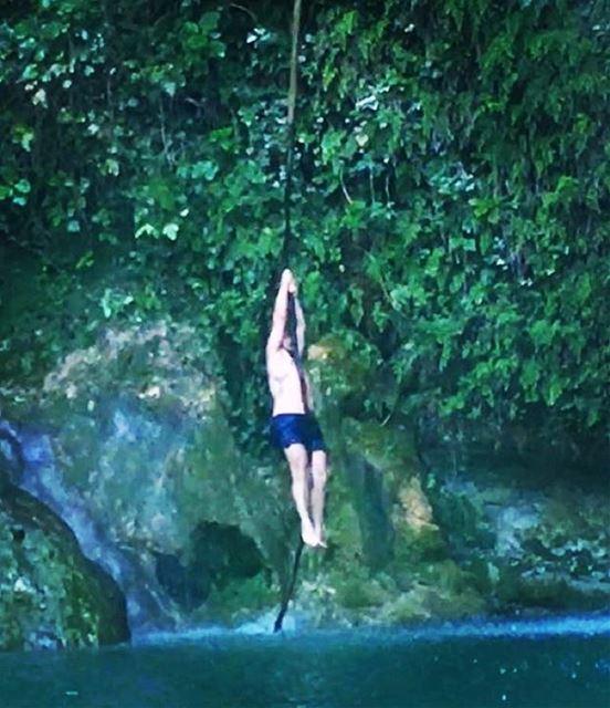 tarzan jungle nature lebanon livelovelebanon river swimming summer... (Baakline, Mont-Liban, Lebanon)