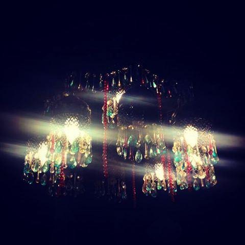 old chandelier lebanon lebanese colorfulglass ... (Old Saida)