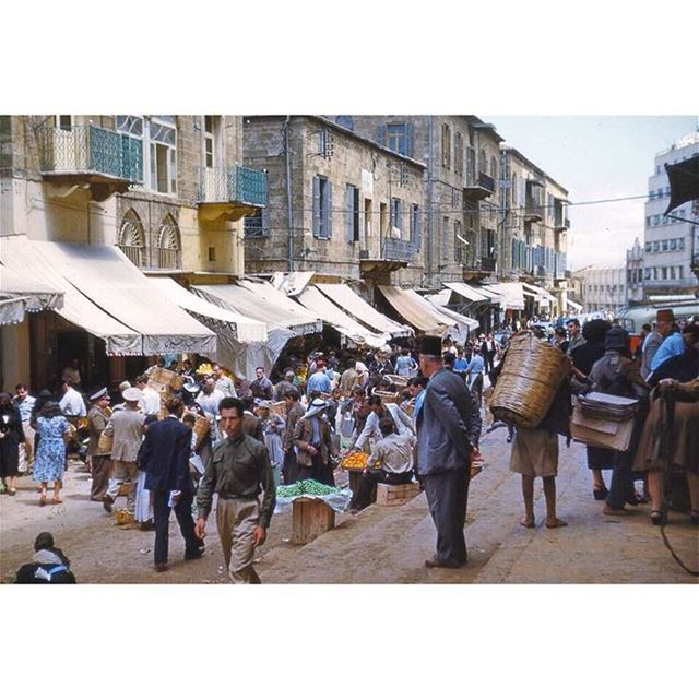 سوق النورية وسط بيروت عام ١٩٦٨