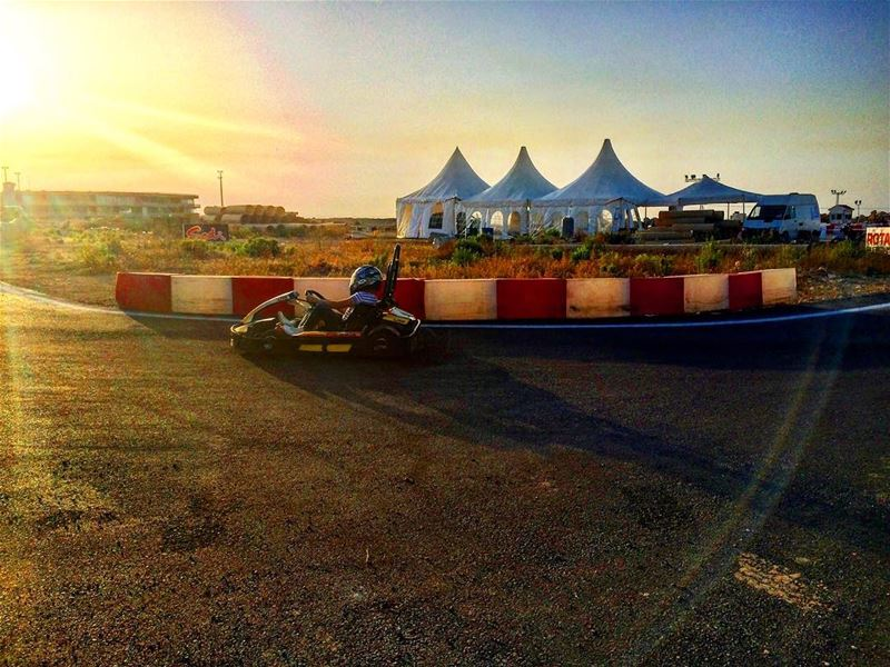 Live from the Karting track within Beirut Cultural Festivals! photograph...