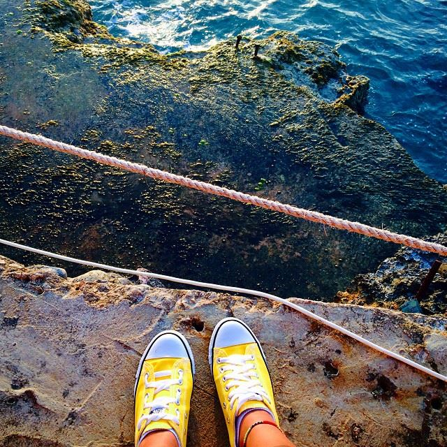What's better than a yellow converse, is a yellow converse by the beach...