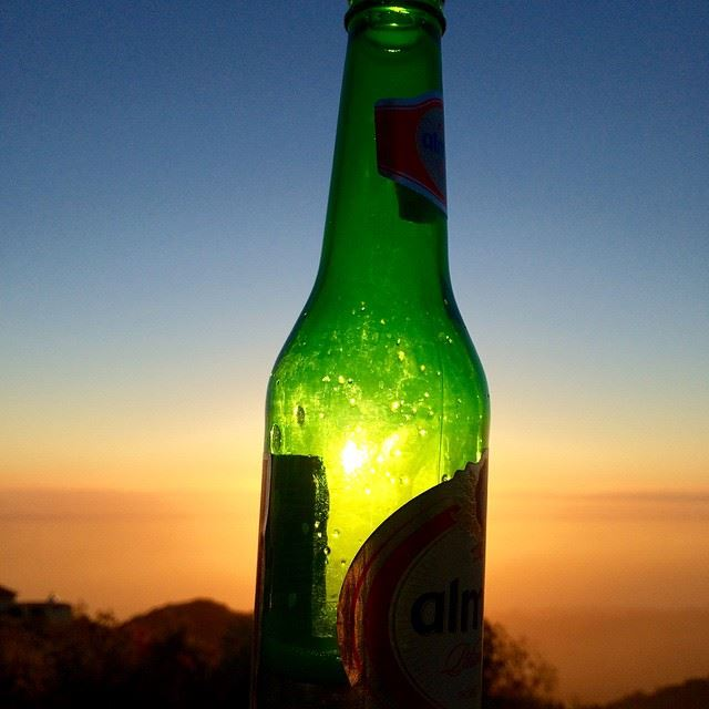 Beer Sunset Mountains and Good Company. Can you beat that? friends ...