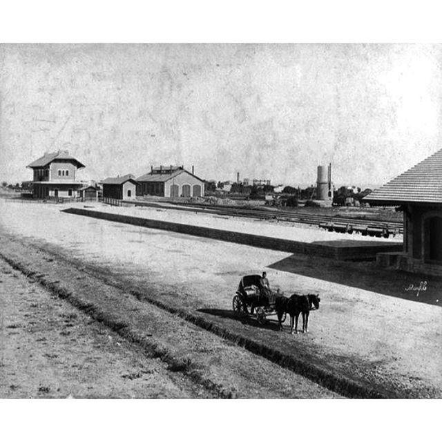 بيروت محطة القطار عام ١٨٩٥ مار مخايل