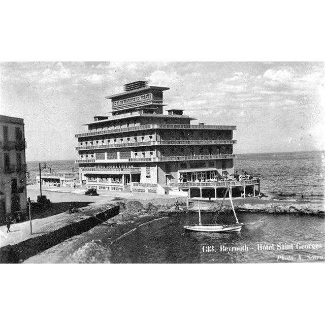 بيروت السان جورج عام ١٩٣٩