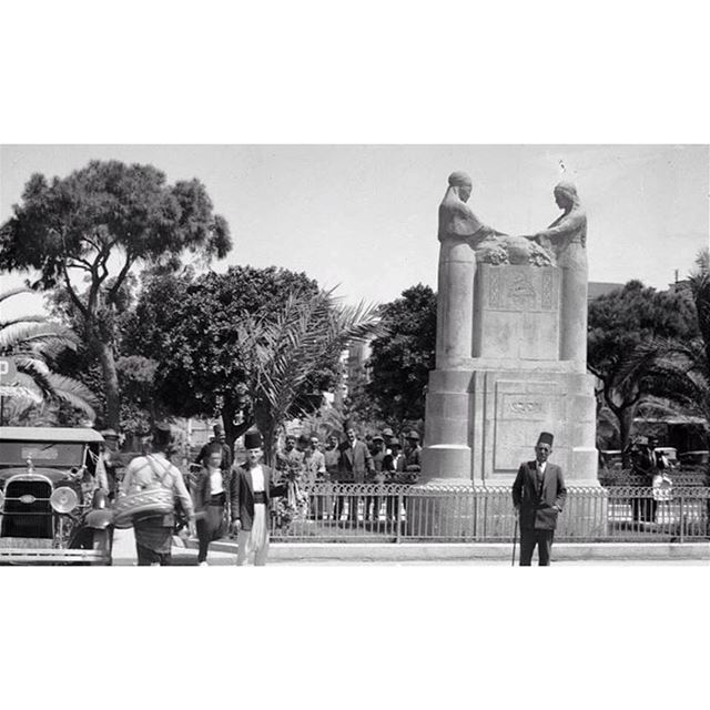 بيروت ساحة الشهداء عام ١٩٣٤