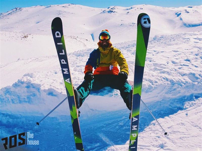 One of the first @amplid_research_cartel skis on the mountain and @kazangrg (Mzaar Ski Resort)
