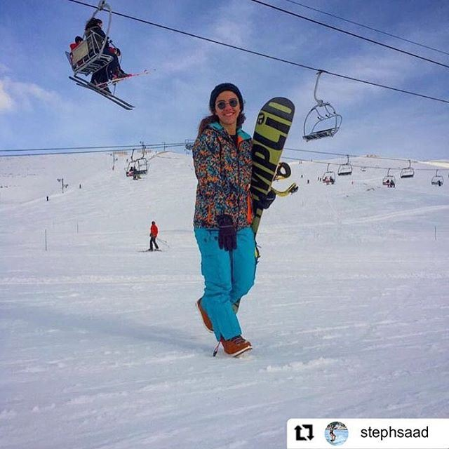 Loud and proud! The only way to get spotted on the mountain is in ... (Mzaar Ski Resort)