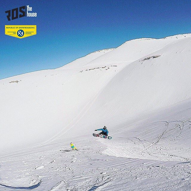 Pow Pow and Away! rosthehouse snow ride lebanon faraya ... (Mzaar Kfardebian Ski Resort.)