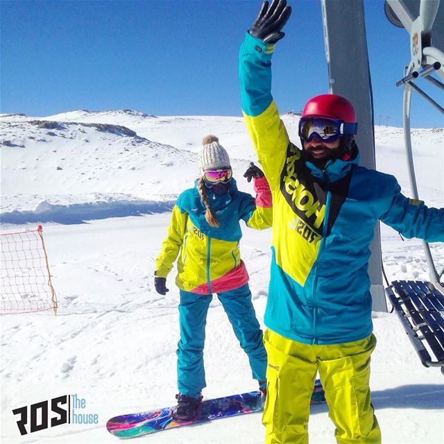 Like horses with feathers 🦄 hfsnowboarding only at  rosthehouse  snow ... (Mzaar Kfardebian Ski Resort.)