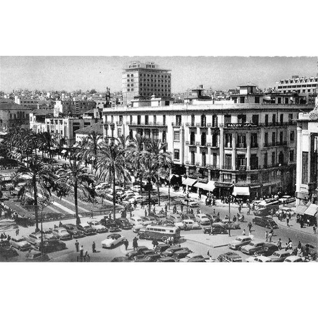 بيروت ساحة الشهداء عام ١٩٥٥