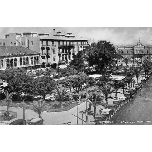 بيروت ساحة الشهداء عام ١٩٢٩