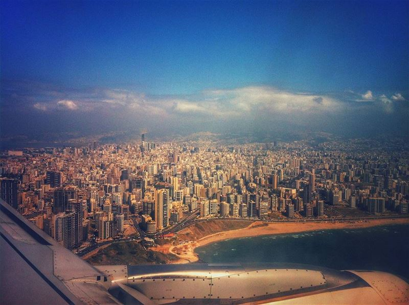 Happiness is looking down on your hometown from a plane ✈ ❤@lebanontimes ... (Beirut International Airport)