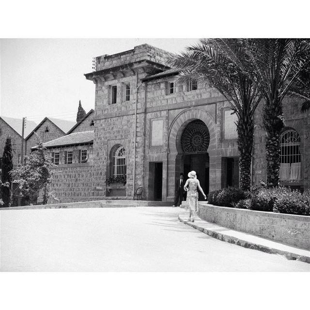 بيروت الجامعة الامريكية عام ١٩٢١