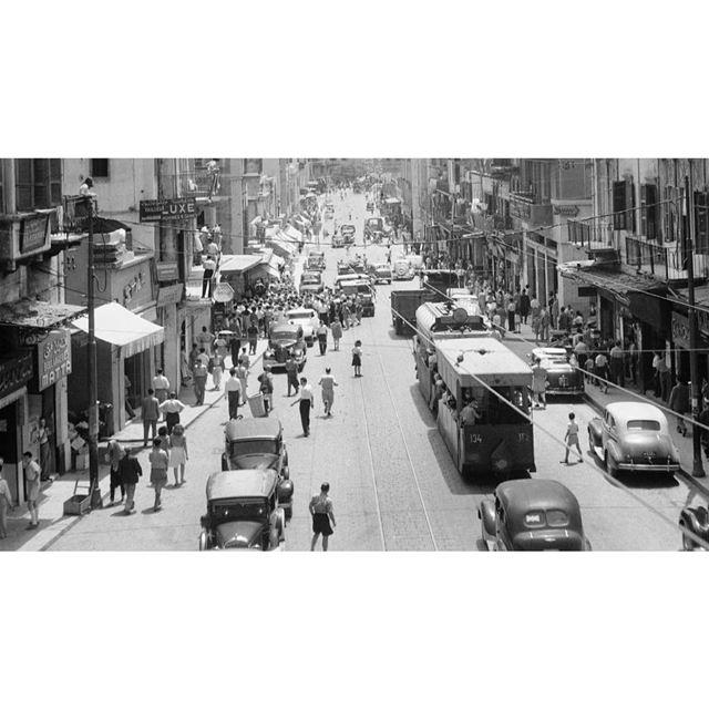 بيروت شارع ويغان عام ١٩٤٦