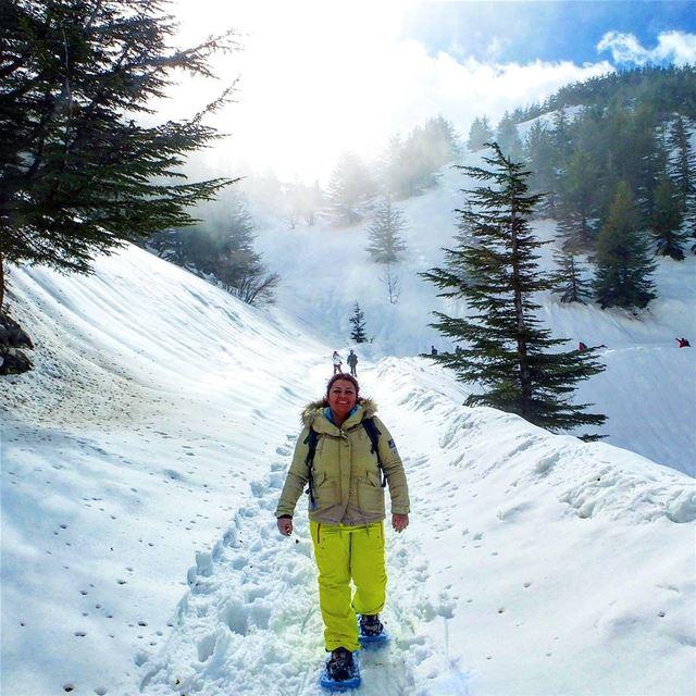 snowshoeing explorelebanon picoftheday livelovelebanon ... (Shouf Biosphere Reserve)