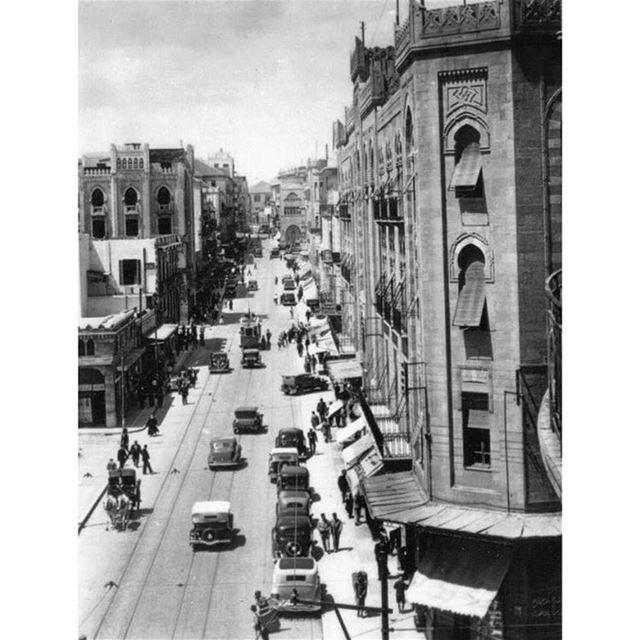 بيروت شارع ويغان عام ١٩٢٢