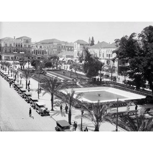 بيروت ساحة الشهداء عام ١٩٢٠