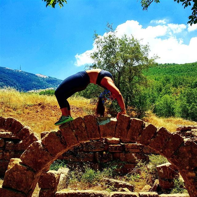 BRIDGE ON BRIDGE yogalife fitnesslebanon bridge hiking explorelebanon... (Chouf)