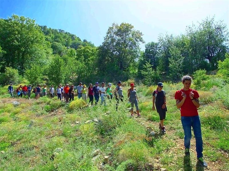 It always great to walk the talk with you Hikers hiking explorelebanon ... (Ehdeniyat)