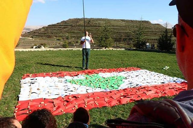 Thank you for everyone who've participated to make this big Lebanese flag.... (رعشين Raachine)