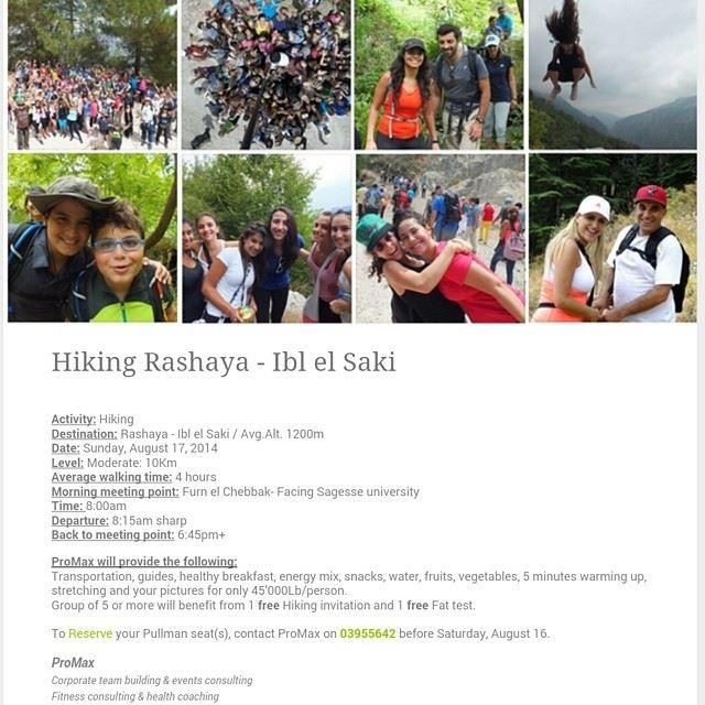 hikinglebanon Fun Fitness WeightLoss socialEvents discoverLebanon ...