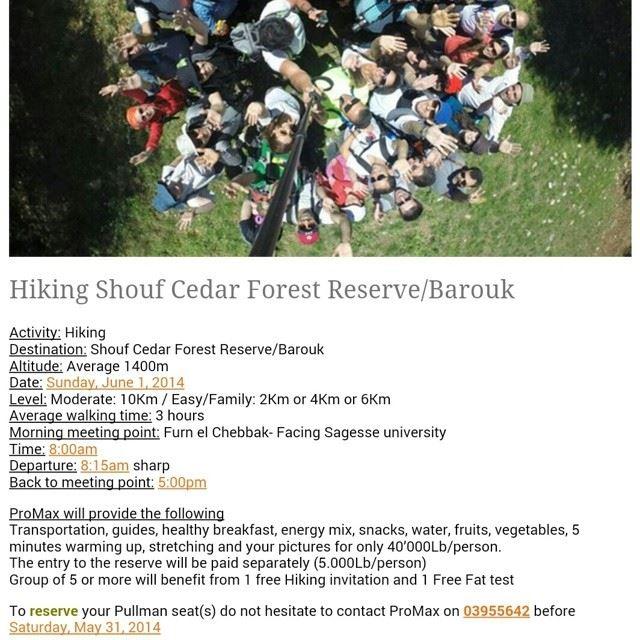 Hiking shouf cedars forest reserve lebanon eco activities...