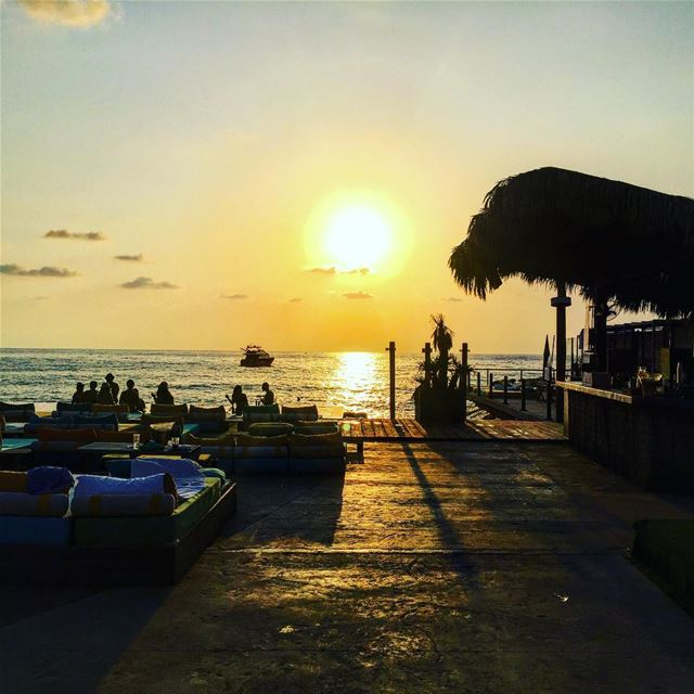 Magical sunset 🌅📍Iris Beach Damour -... (Iris Beach Club)