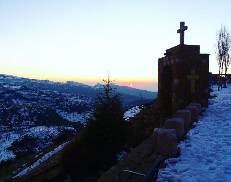 ehden snow sunset landscape photography lebanon nature lebanon_hdr...