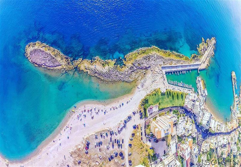 A good bird view ! Lebanon ig_lebanon super_lebanon livelovelebanon ... (Chekka Beach)