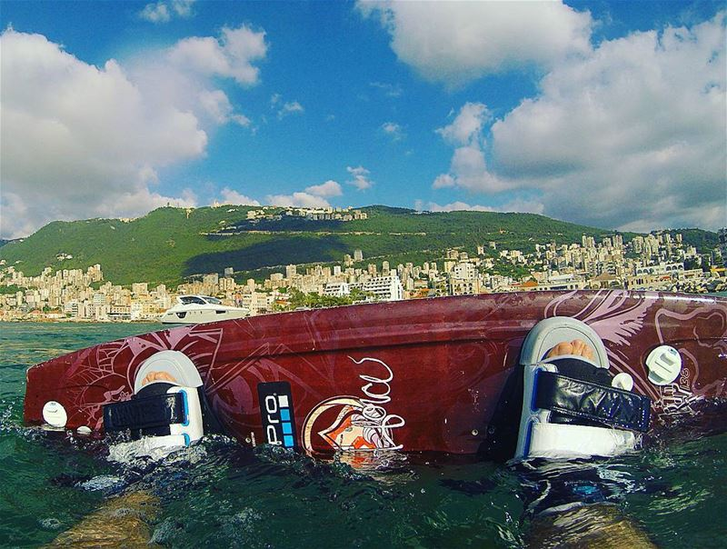 A good view of  harissa after a round of  wakeboarding Lebanon  jounieh ... (Joünié)