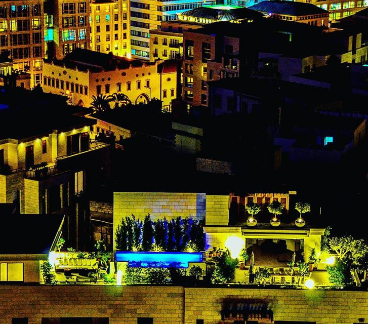 Beirut down town roof top with a pool ? Lebanon beirut super_lebanon ... (Beirut, Lebanon)