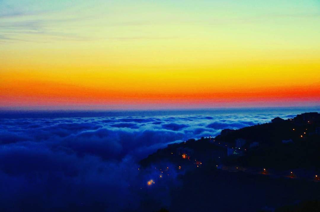 Kfour sunset above the clouds Lebanon ig_lebanon super_lebanon ... (Kfour, Keserwan)