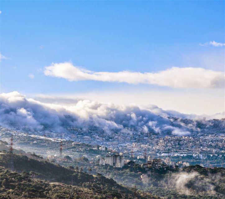 Shades of white lebanon snow clouds aley nikon landscape ...