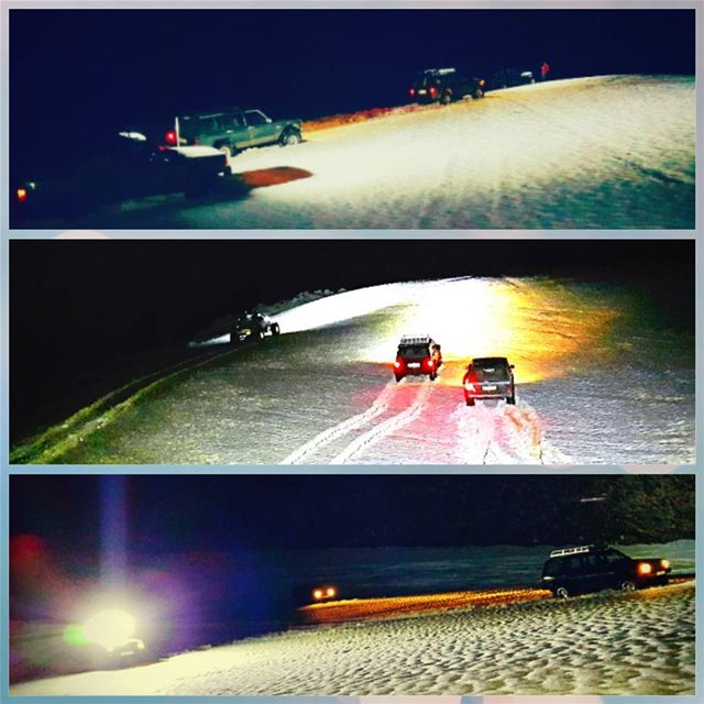 offroad offroading atnight cold socold snowroad lifefullofadventure... (Kfardebian-piste Warde)