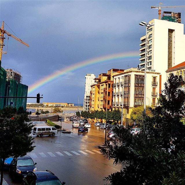 That kind of rainbow waving goodbye for the last day of this year ❤❤... (Downtown, Beirut, Lebanon)