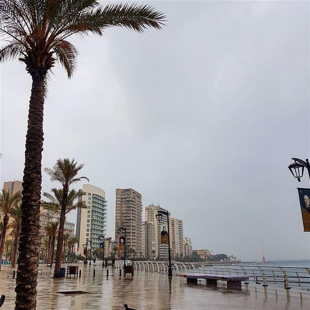 Rainy friday🌧🌧🌧 rainyday weather cold seaside building wanderer ... (Ein El Mreisseh)