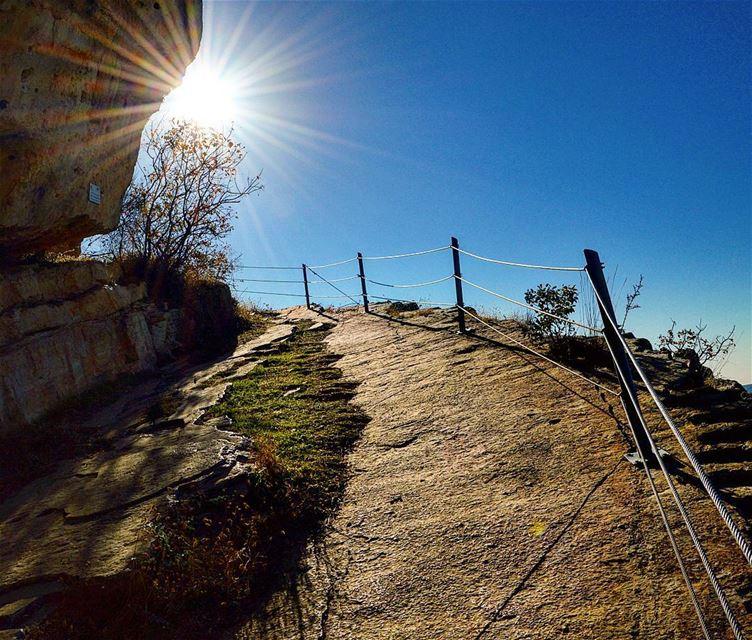 A path leads towards the sun❤💕 naturephotography naturelover sun ... (Niha - Al Shouf)