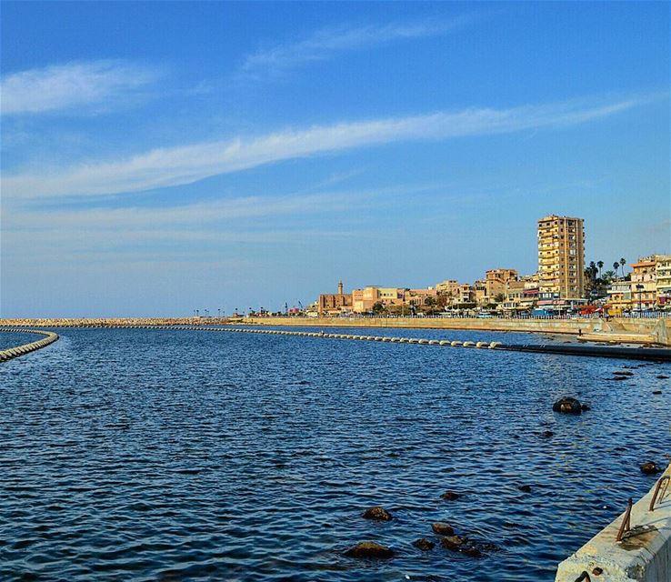 Goodmorning igers❤❤ seaside wanderlust wanderer oldcity tourist ... (Saïda, Al Janub, Lebanon)