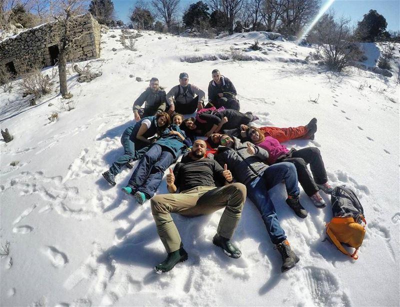 snow hiking @jabalmoussa newtrail addlifetoyourdays ...